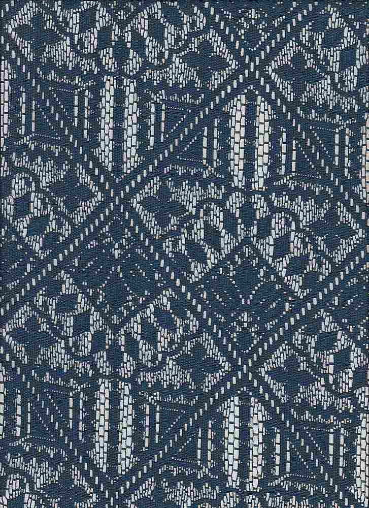"""85666-88477 / #222MARINE / Cassidy Stretch Lace 90/10poly Span 130gsm 60"""""""