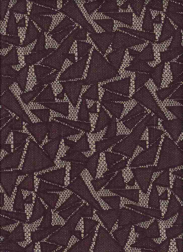 """95525-88509 / #447BURG/GOLD / Geo Sparkle Bonded Lace 100%Poly 52/53"""" 200gsm"""
