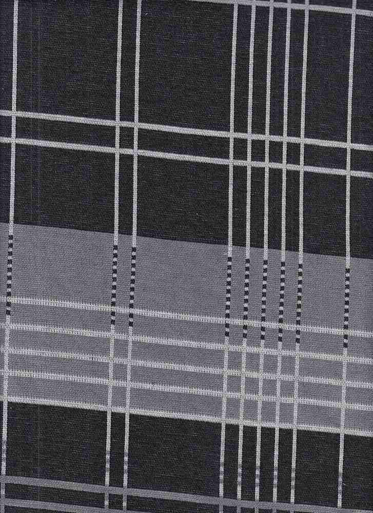 85697-88536 / #010DOVE GREY / Cruise Plaid Knit Jaq 87/11/2poly Rayon Spn 230gsm