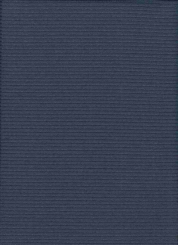 3057-1000 / #222DARK BLUE / SHADOW STRIPE TEXTURE KNT 95/5PLY SPN 195GSM 57/58""