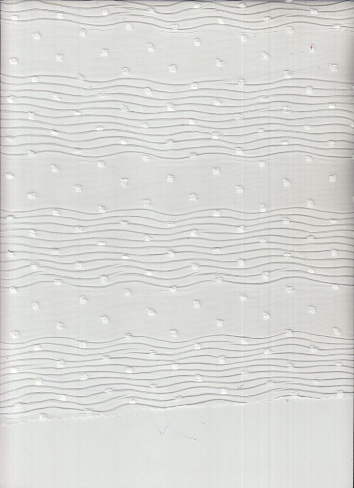 """4026-1000 / #111 WHITE / WAVE SWISS DOT 100% POLYESTER 55GSM 58/59"""""""